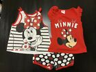 Disney Minnie Mouse Girl Outfit 3 Piece Size 5