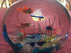 Vintage Seguso Viro Murano Blown Glass Fish Aquarium Extremely Rare Signed