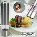1 2 3 5X Stainless Steel Electric Salt Pepper Spice Mill Grinder Cooking Muller