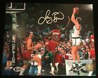 LARRY BIRD SIGNED BOSTON CELTICS 8X10 PHOTO BECKETT BAS COA SHOOTING OVER JORDAN