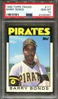 1986 Topps Traded #11T Barry Bonds RC PSA 10 Pittsburgh Pirates