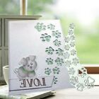 Dog Paw Print Metal Cutting Dies Stencil Scrapbooking Embossing Card Making DIY