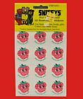 Vintage MATTE CTP77 1977 New Sealed Strawberry Scratch and Sniff Stickers Sheet