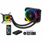 120mm CPU Liquid Cooler Closed Loop PC Water Cooling RGB Ring Fans Intel AMD