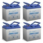 Power Sonic 12V 35AH Battery Replaces GiantVac Truck Loader LawnMower 4 Pack