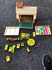 Vintage Fisher Price Little People 923 Play Family School House Figures Etc