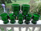 7 ANCHOR HOCKING FOREST GREEN GEORGIAN 8 oz GLASS TUMBLERS GLASSES -BUYING ALL