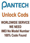 Factory Unlock Code Pin Pantech III 3 P2030 Breeze IV 4 P2050 P1010