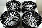 4 New DDR Haze 17x7 4x100/114.3 35mm Black/Polished 17