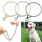 Brass Chain P Choke Dog Training Collars Chrome Stainless Steel Strong Collar