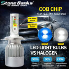 2x H4 HB2 9003 100W 20000LM LED Headlight Kit High 6000K  Low 8000K Beam Bulbs