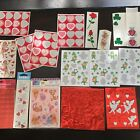 Vintage valentines Day Stickers St Pats Package Sheets 80s 90s Winnie The Pooh