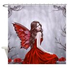 CafePress Winter Rose Butterfly Fairy Shower Curtain 1215818950