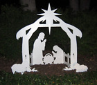 Christmas Outdoor Nativity Scene Stable Star Back or Front Yard Weatherproof Set