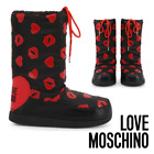Women's Warm Black Winter Shoes LOVE MOSCHINO Winter Ski Shoes Moon Boots