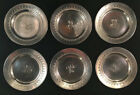 Set Of Six Tiffany Sterling Silver Nut Dishes Etched Decorations