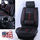 US Shipping Car Front Seat Cover Breathable PU Leather + Ice Silk Non slip 1PC