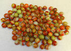 9869m Vintage Group of 100 Odder Colored Peltier Swirl Marbles 58 to 71 In