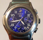 Hublot MDM Luxury Automatic Stainless Steel Blue Dial Chronograph Wristwatch