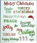 Christmas Phrases 1 Happy Holidays December 25th PS Clear Stickers