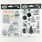Bella Blvd Illustrated Faith Lot Of 2 Christmas Clear Stamp Sets Advent Holiday