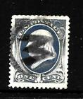 HICK GIRL STAMP OLD CLASSIC USED US SC206 XF FRANKLIN FANCY CANCEL Y5653