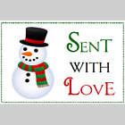 30 HOLIDAY SNOWMAN STICKERS  Party Favor Christmas Seals Tags Invite Scrapbook