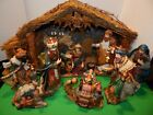 Vintage Special Times Large Lighted Nativity Set in Box