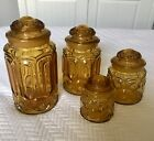 STARS 4-piece Canister Set Gold - Good Condition