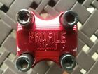Red Profile Acoustic BMX Race Stem 1 1 8 x 48mm Used