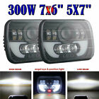 DOT 7X6 5X7 CREE LED Headlight Hi Lo Beam Halo DRL For Jeep Cherokee XJ YJ MJ US