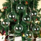 10 100X Clear Plastic Christmas Balls Baubles Sphere Fillable Xmas Tree Ornament