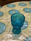 4 Blue Moon And Star Goblets Mint
