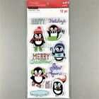 Recollections Christmas Clear Stamp Set Penguins Winter Ice Skating Sledding