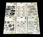 LOT OF 6 PKS AUTUMN LEAVES CLEAR STAMPS 62 TOTAL STAMPS BRAND NEW