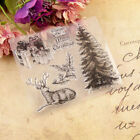 Christmas Tree Transparent Silicone Rubber Stamp For Scrapbooking DIY Stamps US