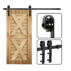 Sliding Barn Door Hardware Kit 66FT Modern Closet Hang Style Track Rail Black