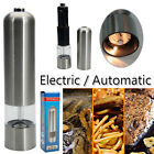 Electric Salt Pepper Grinder Set Automatic Stainless Steel Battery Operated Tool