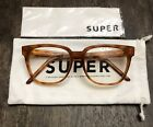 Super By Retrosuperfuture Womens Brown Marbled Square Eye Glasses No Box Mint