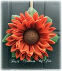 SUNFLOWER WREATH BURLAP FLOWER WREATH ORANGE FLOWER WREATH