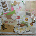 Card Making Kit Old Post Cards Paper and Embellishments to Make 5 Cards