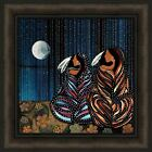 SISTERS by Betty Albert 18x18 Native American Indian Women Sitting FRAMED ART
