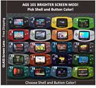 Nintendo Game Boy Advance System AGS101 Backlit Mod Glass Screen Pick Color