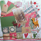 Card Making Kit Rustic Christmas Paper  Embellishments to Create 5 Cards