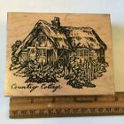 PSX USED RUBBER STAMP K 1459 ENGLISH COUNTRY COTTAGE HOUSE GARDENS FENCE