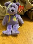 2002 TY Beanie Babies  The Basket Beanies Collection bear named Eggs III Purple