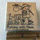 Boy Scout Dog Honor saying Stampin Up Rubber Stamp Children