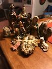 Vintage 11 Piece Sears Nativity Set From 1950s Made in Japan Composite Figs