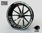 - Rim stickers kit - Fits Ducati STREETFIGHTER Wheel Stripes Decals Tape