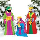 Christmas Decorations Nativity Three Kings Yard Decoration 3pc Set Outdoor Decor